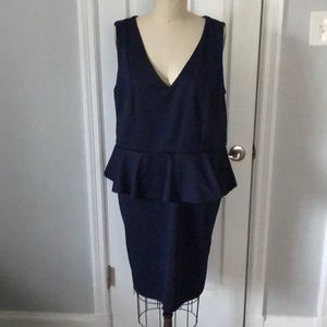 H&M Dresses - H&M NEVER WORN Navy Blue Peplum Dress